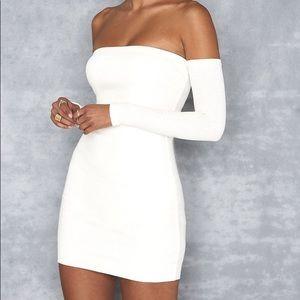Off The Shoulder White Mistress Rock Dress